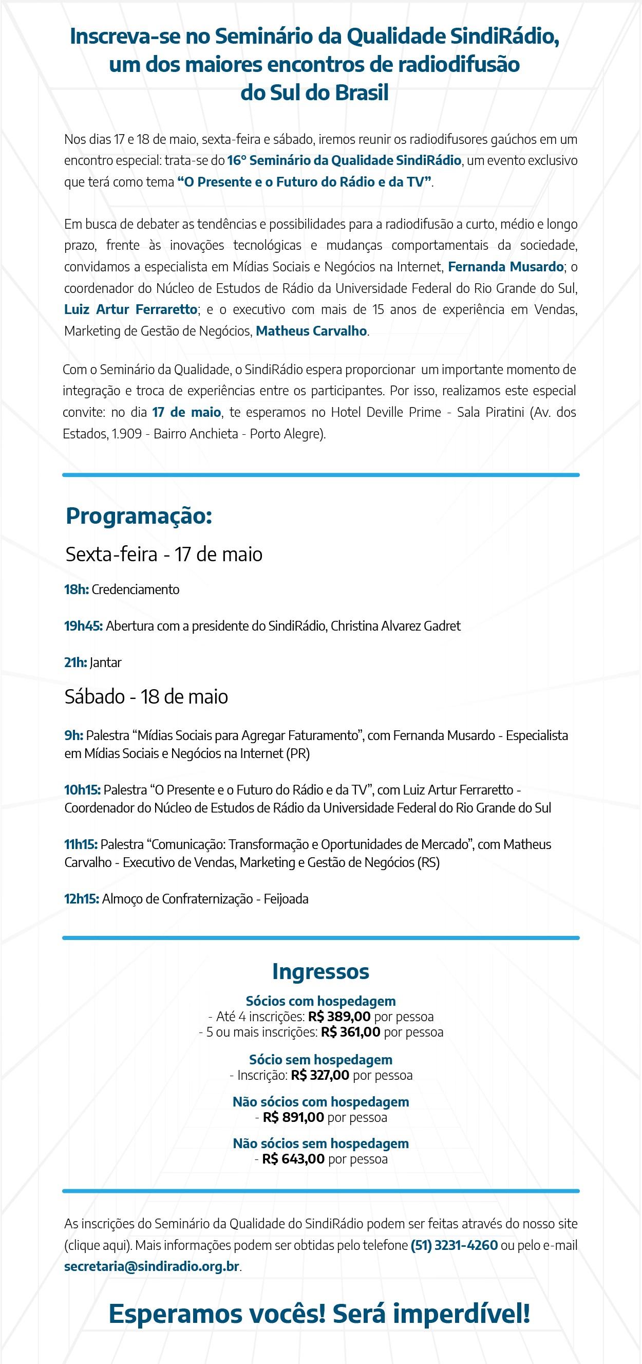 informacoes seminario